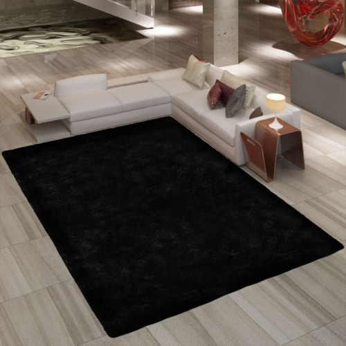Black Shaggy Carpet 160x230 cm Heavy Weight 2600 g / m²