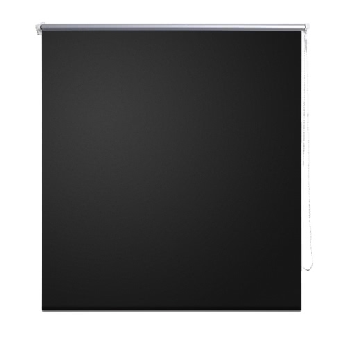 Roller Blind Blackout 120 x 230 cm Black