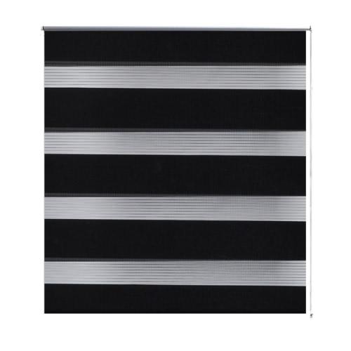 Zebra Blind 120 x 230 cm Black