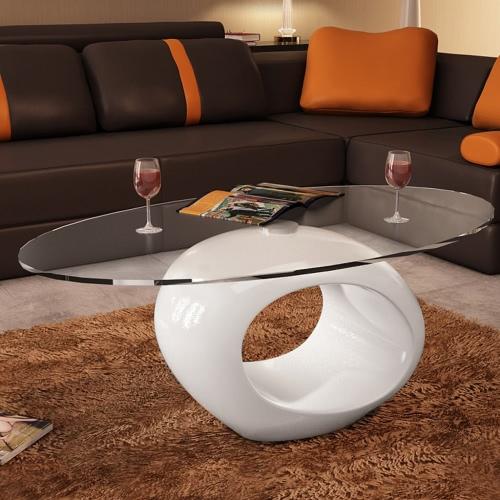 Table basse ronde blanc