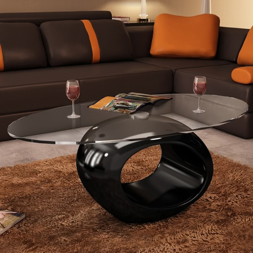 Coffee Table Round Black Beautiful