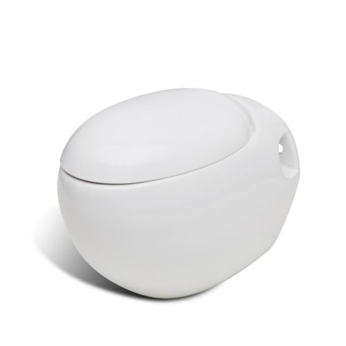 Nowa toaleta wisząca biała Unikalna konstrukcja jajko
