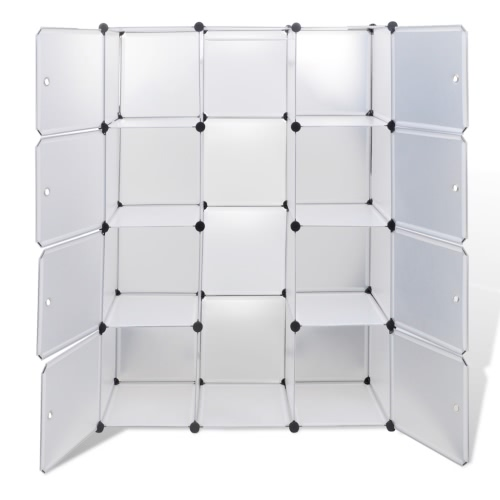 Modular Cabinet with 9 Compartments White 37 x 115 x 150 cm