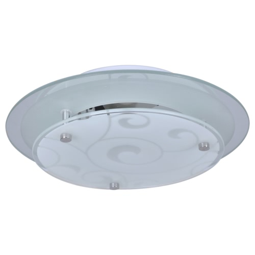 Ceiling Lamp Glass Round 1 x E27 Pattern