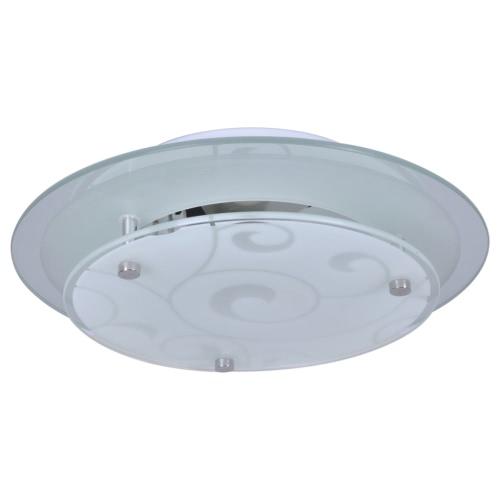 Lampe plafond de verre ronde 1 x E27 Motif