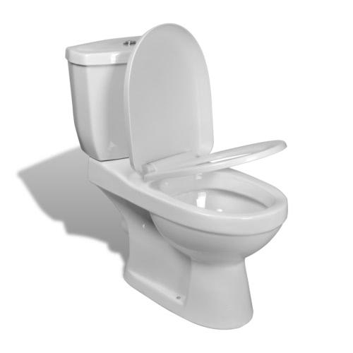 Inodoro con cisterna blanca