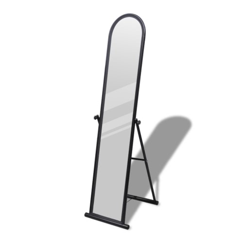 Free Standing Floor Mirror Full Length Rectangular Black
