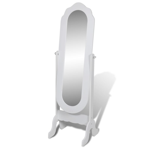Free Standing Mirror White Adjustable