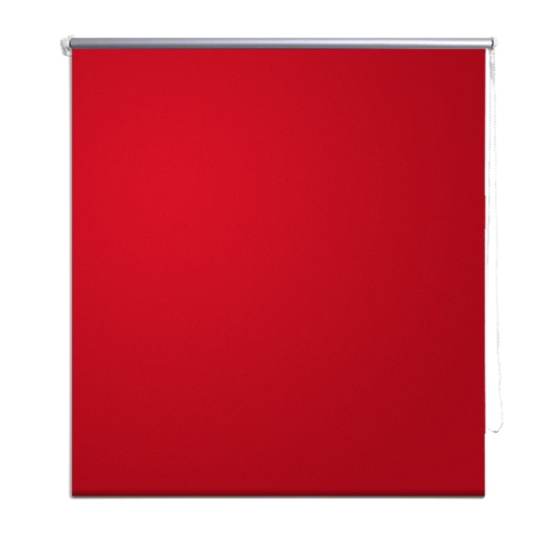 Roller Blind Blackout 40 x 100 cm Red
