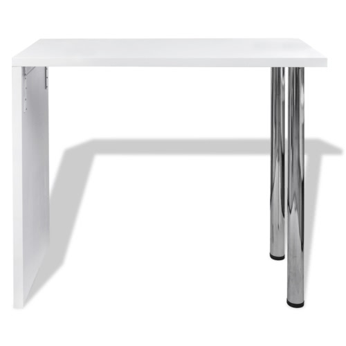 High Gloss Bar Coffee Table Dining Table With 2 Legs White