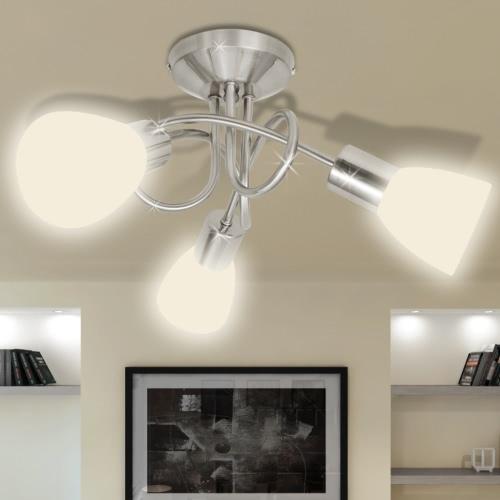 Потолочный светильник с Glass Shades для 3 E14 Луковицы