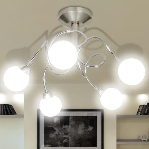 Потолочные светильники с круглыми стеклянными Оттенками 5 G9 Лампочки