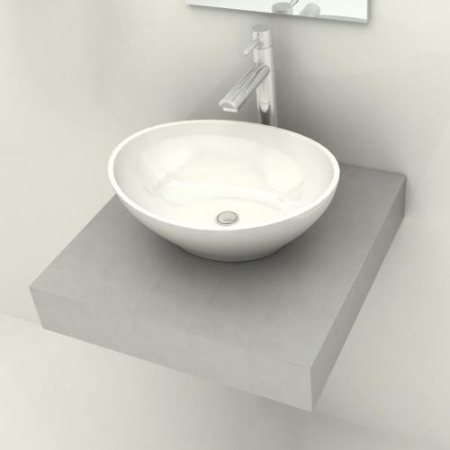 Concrete Bathroom Counter Top for 1 Basin