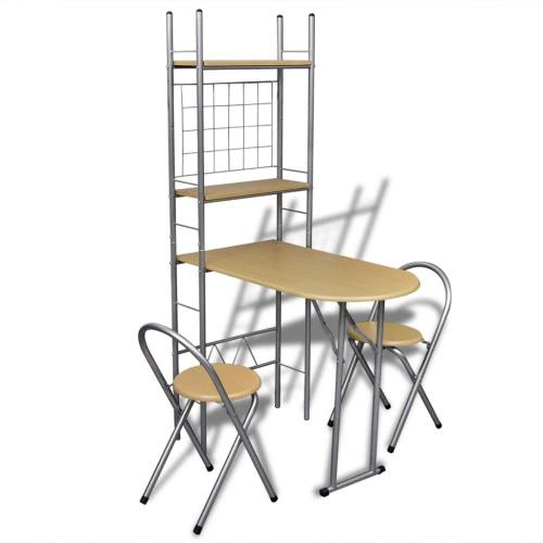 Складная барная стойка для завтрака Набор с 2 стульями