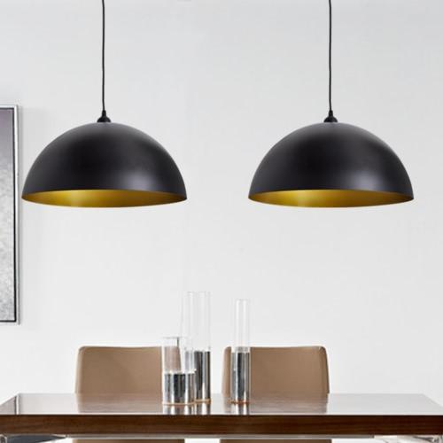 Semi-spherical Black Ceiling Lamp 2 pcs