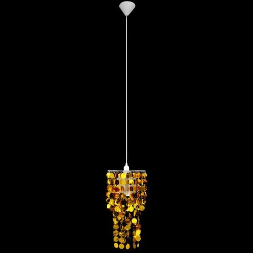Круг Paillette Подвеска Люстра Лампа 26 х 56 см золото