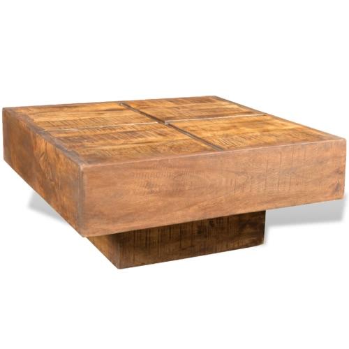 Коричневый цвет Античный стиль площади Манго Вуд журнальный столик