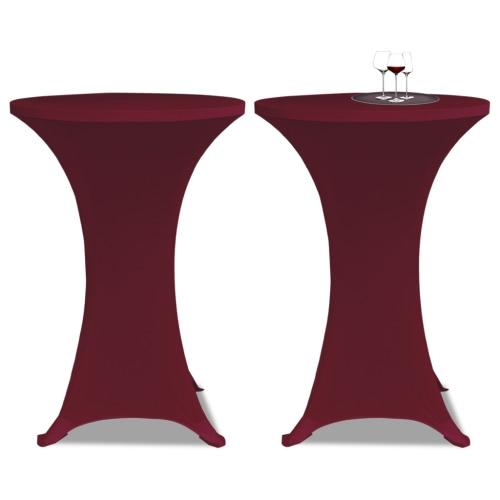 Standing Table Cover Ø80cm Burgundy Stretch 2 pcs