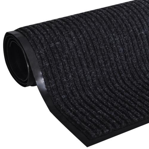 Black PVC Door Mat 90 x 60 cm