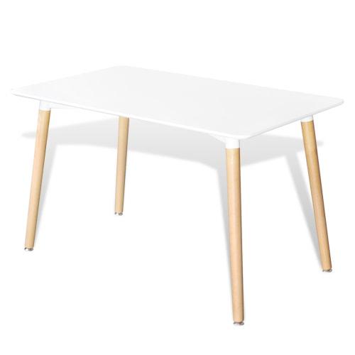 Matte White Прямоугольный Обеденный стол