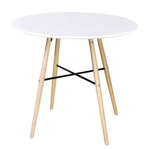 Matte White Round Dining Table