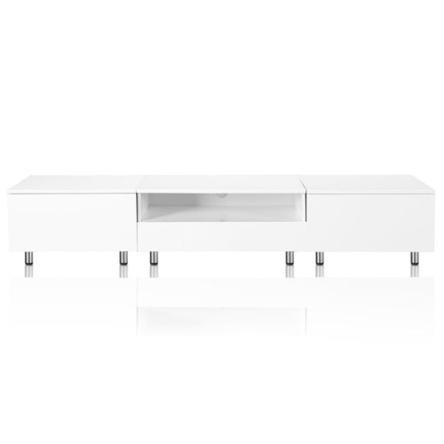 LED High Gloss White TV Stand 200 cm