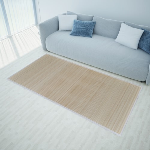 Rectangular Natural Bamboo Rug 120 x 180 cm