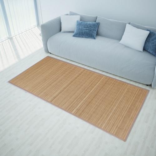 Rectangular Brown Bamboo Rug 200 x 300 cm
