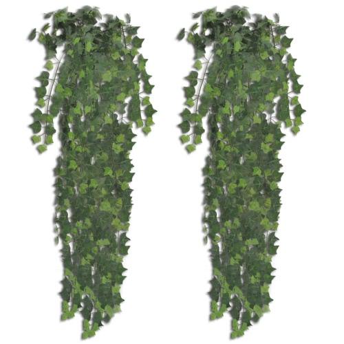 2 шт Зеленый Искусственный Айви Буш 90 см