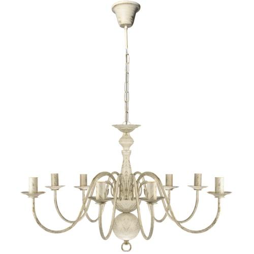 Античный Белый Металл Люстра 8 х E14 лампы