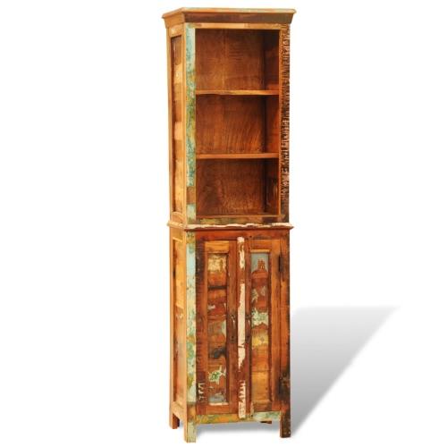 Vintage Style Утилизированный твердой древесины Книжная полка