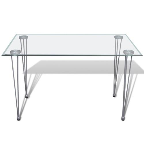 Transparente Tapa de cristal mesa de comedor