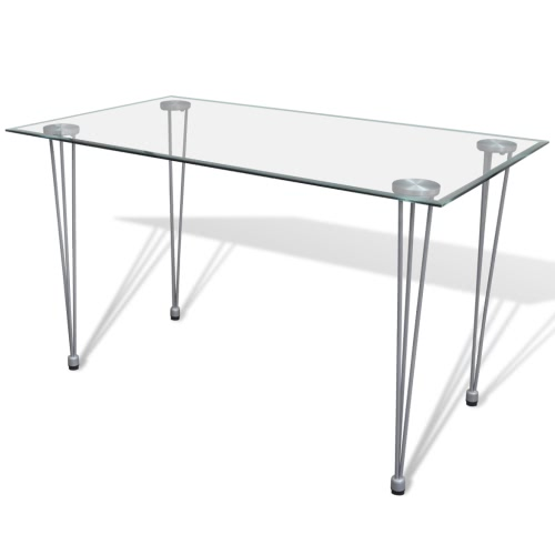 Transparent Glass Top Dining Table