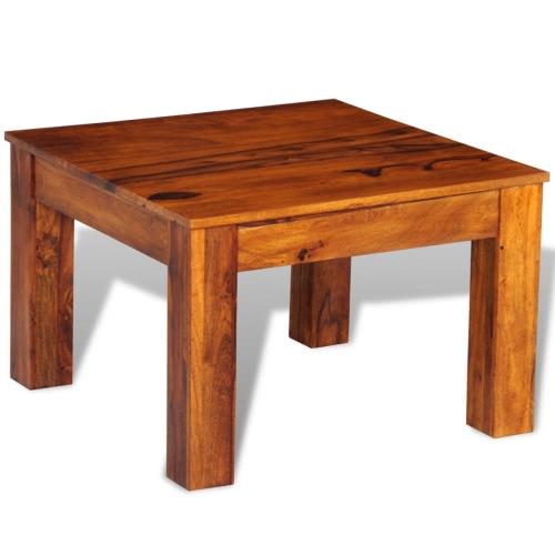 Sheesham твердой древесины журнальный столик 60 х 60 х 40 см
