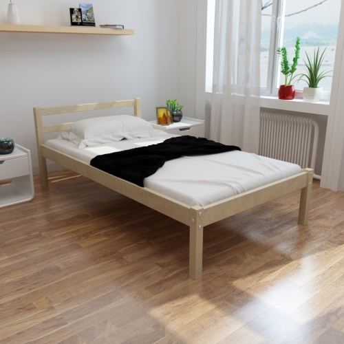 Natural Sólido Madera de pino cama de 200 x 90 cm