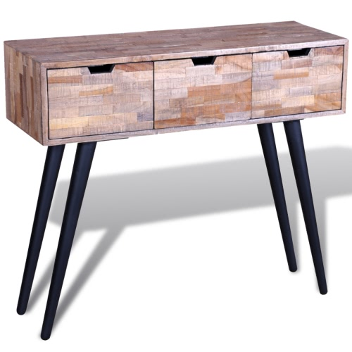 Console Table Reclaimed Teak