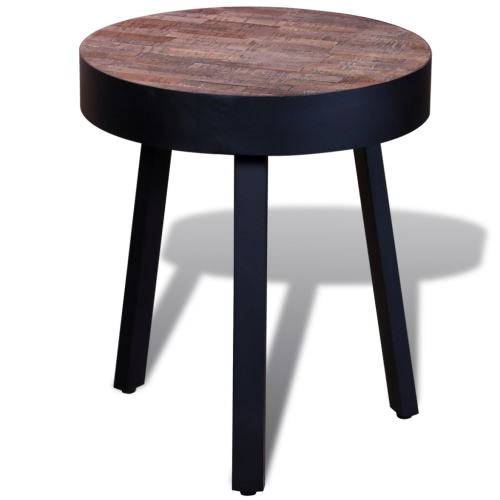 Side Table Round Reclaimed Teak