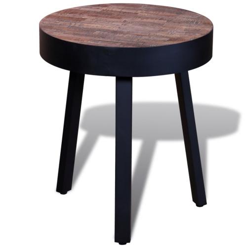 Боковой Круглый стол регенерированного Тик