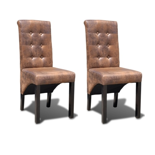 2 pcs Artificial Leather Dining Chair