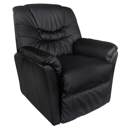 Electric Artificial Leather Massage Chair Black