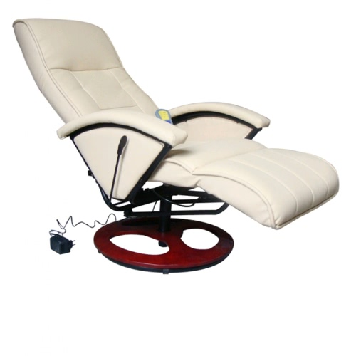 Electric Artificial Leather Massage Chair Cream