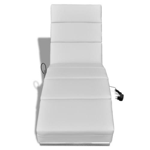 Cuero artificial para sillas de masaje eléctrico blanco