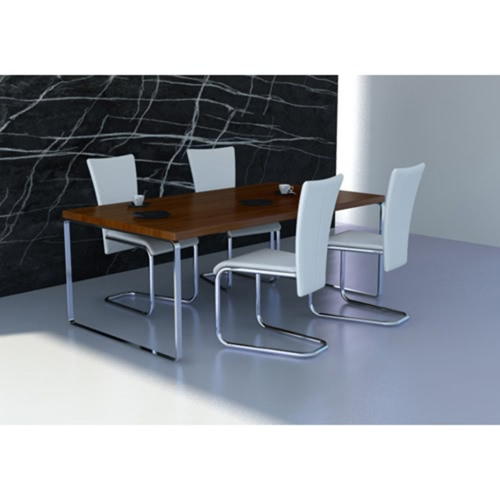 4 piezas de cuero artificial para silla de comedor blanco del hierro