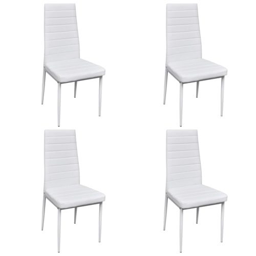 4 pcs Blanc Slim Line Chaise