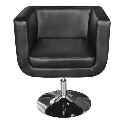 Adjustable Black Artificial Leather Armchair