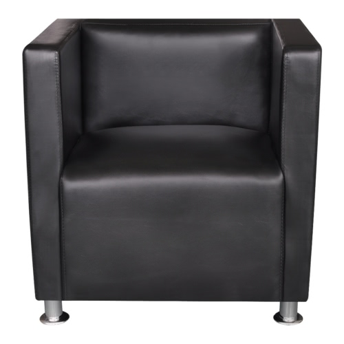 Black Artificial Leather Armchair