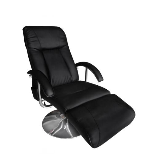 Черный Искусственная кожа Электрический ТВ реклайнер массажное кресло