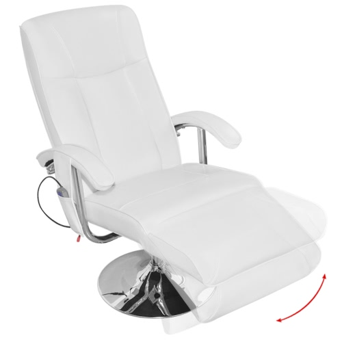 White Artificial Leather Electric TV Recliner Massage Chair
