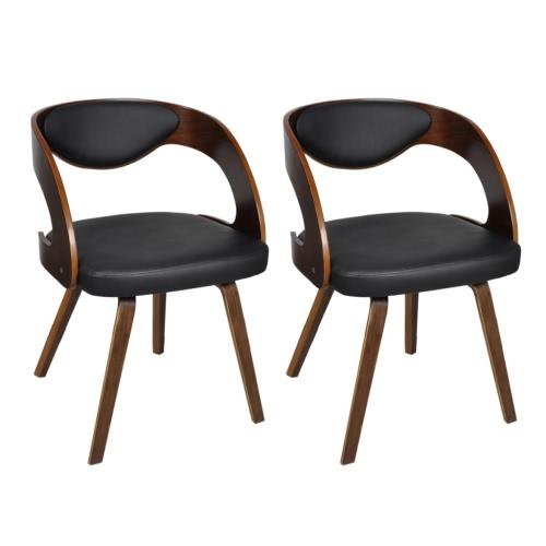 Set bestehend aus 2 Esszimmerstühle mit gepolsterten Rückenlehne Bentwood