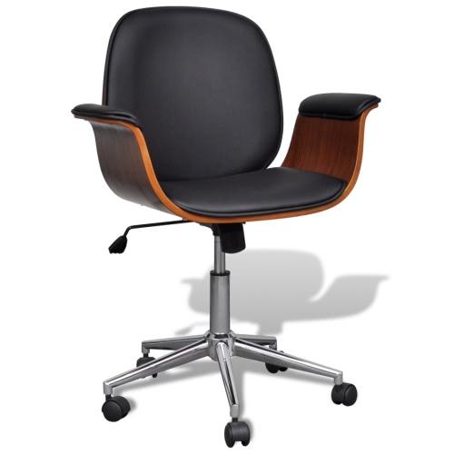 Регулируемый поворотный офисный стул Искусственная кожа